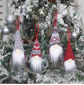 Christmas Decoration Handmade Swedish Gnome Scandinavian Tomte Santa Nisse Nordic Plush Elf Toy Christmas Tree Ornament Xmas Decorations