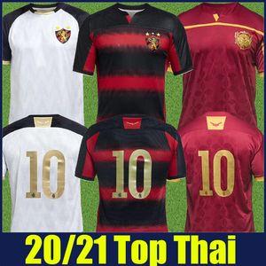2020 2021 Brasileño Sport Club Do Recife Soccer Jersey Rojo Black Striped Shirt Hernane Sander Football Shirts Camisa Recife Goleiro 20/21