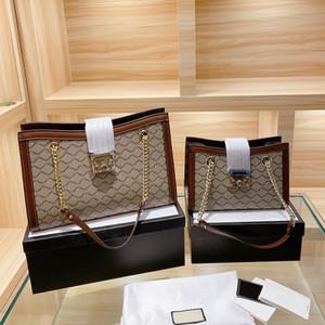 Cadeado Medium Shoulder Bag Canvas de couro real do saco do desenhista Mulheres Bolsas com Key Mulheres Bandoleira Sacos Espaço Big 5 cores com Box