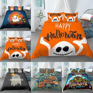 3D Luxury Bedding Sets Ghost Pumpkin Print Duvet Cover Pillowcase 2 3pcs Queen King Size Halloween bedding set Halloween Decor 1012