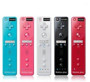 2 في 1 مدمج في الحركة بالإضافة إلى gamepad ل wii تحكم اللاسلكية النائية controle joystick ألعاب الملحقات 1