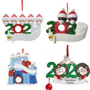 2020 árbol de Navidad de la familia Colgante El año nos hospedamos Inicio Palabra Resina Adorno muñeco de nieve caliente de la venta de bricolaje 9 5zn J2