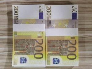 15 Venta caliente 100 paquetes de accesorios mágicos Simulación de monedas 200 Euro Spray Pistola Euro juego Magic Bar Props Bar