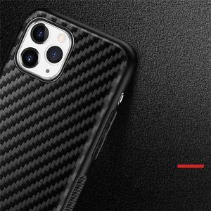 Lüks Karbon Fiber Yumuşak TPU Telefon Kılıfı iphone 12 11 Pro X XR XS Max 7 8 Artı Moda Adam Kadın Kapak