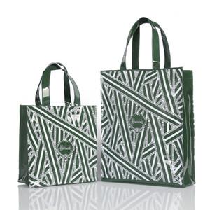 Роскошный ПВХ Прочного водонепроницаемого Tote женщин Шоппинг многоразовой Экология Лондон Shopper сумка сумка Q1106