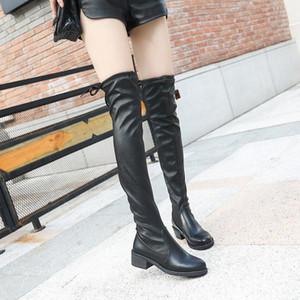 2020 Inverno Stivali sopra il ginocchio stivali tacco alto grossi stivali con europei e americani stile popolare womenshoes Nuove womenshoes