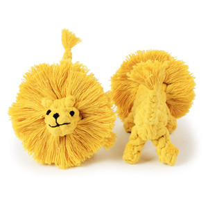 Dog Accessory Cotton Rope Manual Weaving Lion Shape 15.5cm Pet Dog Multi-strand Knot Resistant Molar Toy Dog Toys VTKY2360