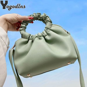 For Women Cloud bag Soft PU Leather Madame Single Shoulder Pleated Dumpling Handbag Day Clutches bags Messenger Q1107