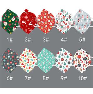 Рождество маска Xmas дизайн маска 5 слоя елочных шапки подарки маски для лица Рот Обложки РМ2,5 респиратор Дизайнер Маски для лица DHL E101502