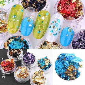 Nouveau Double coloré Nail Sided Foil Glitter Or Sliver Laser Nail Art Stickers Transfert polonais PARFAITEMENT Décoration jXrm #