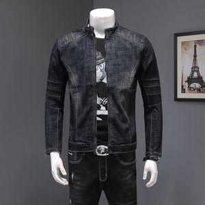 spring new denim jacket men's long sleeves wear Slim Korean version of the trend handsome youth jacket jeans Y1112