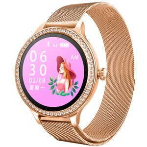 24h heart rate monitoring, 15-30 days of long standby, female physiology reminder Smart watch,Heart rate blood pressure sleep monitoring