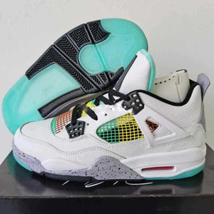 Hot 2020 high quality new men's carnival basketball shoes transparent green white leather sneake basket sneake