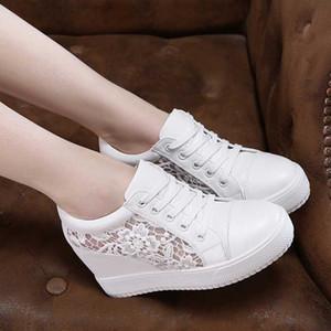 Sıcak Satış-Siyah Beyaz Gizli Kama Topuklu Sneakers Bayanlar Rahat Ayakkabılar Kadın Yüksek Platformu Ayakkabı Kadınlar Için Kadın Yüksek Topuklu Takozlar Ayakkabı