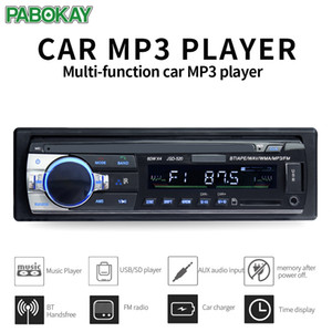 JSD520 ISO 12V Bluetooth Car Stereo in-Dash 1 DIN FM AUX Supporto ingresso AUX MP3 / MP4 USB MMC WMA AUX IN TF Radio Player