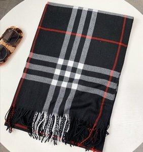 Top design soie marque chaude et un châle épais foulard super doux femmes longue écharpe de luxe hiver mode écharpe à carreaux classique 180 * 65cm