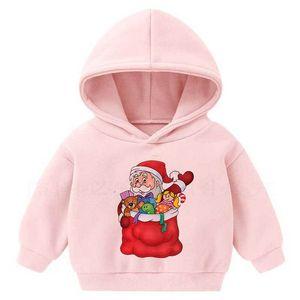 child Kawaii Socks Clothes Hoodies Vogue Christmas Print Pullover Long Sleeve Casual Sweatshirt kid Harajuku 2020