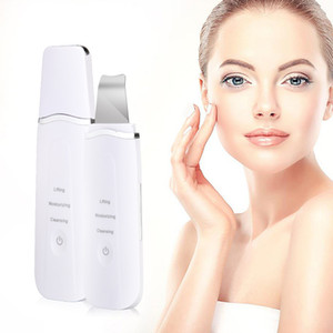 New Ultrasonic Ion Skin Scrubber Remove Dirt Blackhead Reduce Wrinkles and Spots Deep Face Cleaning Lifting Machine Beauty Tools CE FCCA FDA