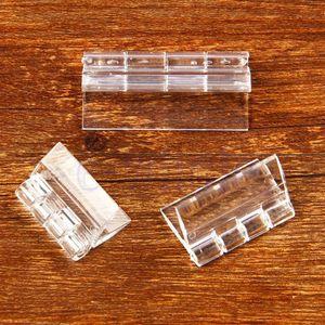 Commercio all'ingrosso- 10x Durable Clear Acrilico Plastica Pieghevole Pieghevole Pieghevole Plexiglass trasparente Cerniera HG2761x10-HG2763x101