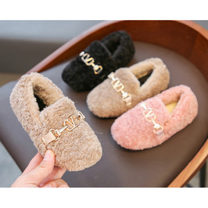 Дети осень зима обувь 2020 Новое прибытие детей скольжению на резинке- кроссовки для девочек Повседневная обувь Британская принцесса обувь