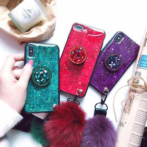 titular diamante luxo mármore Glitter dedo de bling caso de telefone anel titular para iphone 12 mini-12 pro Max Samsung S20FE S20 NOTE20 Ultra