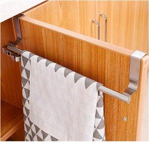 2 Size Towel Racks Over Kitchen Cabinet Door Towel Rack Bar Hanging Holder Bathroom Shelf Rack Home Organizer Long W bbyBMP