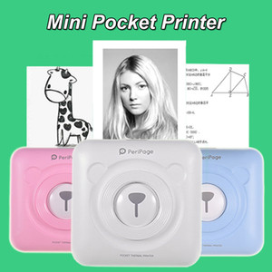 Portable Mini Pocket Printer Thermal Heat Paper Phonto 58mm Wirelss Bluetooth 4.0 Printing Machine Compatible with All Phones