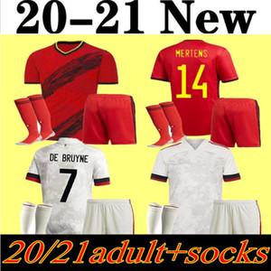 Erkekler futbol takımları 2020 Belçika Soccer Jersey Ev Maillot de Ayak # 9 Lukaku # 10 E.Hazard # 7 de Bruyne Futbol Gömlek