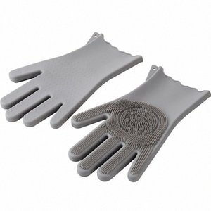 ITAX-9921 Silicone dishwashing gloves winter kitchen washing dishes waterproof laundry cleaning Tno5#
