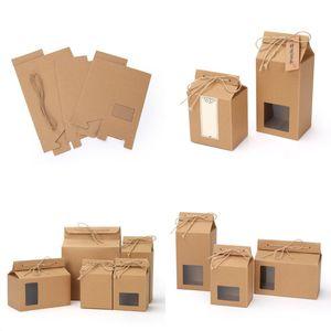 Чайная упаковка коробка картона крафт бумажный пакет складной пищевой гайки чайный ящик для хранения пищи стоящая вверх бумага упаковка сумка 93 g2