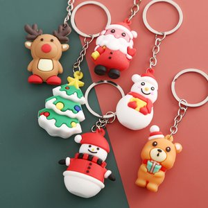 Christmas key chain Cartoon lovely Santa Claus key chain Christmas gifts pendant lovers key chain Party decorations