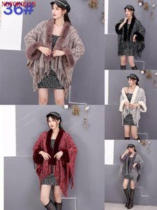 5 colori 2021 New Lady Laytted Short Cardigan Outwear Outwear Donne Faux Fur Collo Gilet Autumn Tassel Giacca in pelliccia Giacca Pelliccia