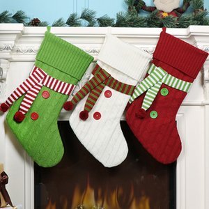 The latest 54CM size, Christmas socks, Christmas decoration gifts, candy bags, scarf style Christmas socks, free shipping