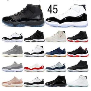 Горячая распродажа 25-й юбилейный jumpman 11s 11 мужчин высокие мужские баскетбольные туфли разводили concord 45 низкая легенда синий космический джем кроссовки женщин тренеров