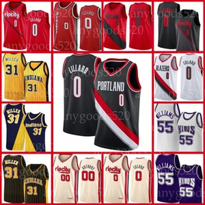 PortlandWegBlazerJersey Damian 0 Lillard Carmelo Anthony 00 Clyde 22 Drexler Basketball-Trikots 2021 Neue Männer Shorts