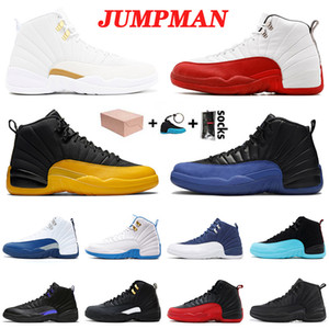 nike air jordan retro 12 12s Jumpman 2021 nuovo arrivo scarpe da basket 12 12s XIII OVO bianco Cherry Università di Gioco Gold Royal Black Retro Uomini Donne Fuori formatori 40-47
