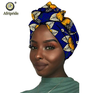 African New Fashion Headwrap Women Cotton Wax Fabric Traditional Headtie Scarf Turban pure Cotton Wax AFRIPRIDE S001 201021