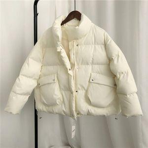 Luzuzi Yeni Kış Kısa Ceket Kadınlar 2020 Uzun Kollu Kış Sıcak Kadın Parkas Kore Taze Şeker Renk Ceket Pamuk Palto