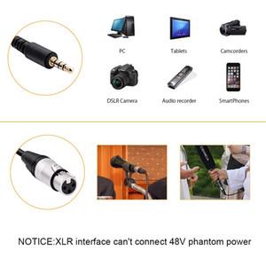 Freeshipping Micrófono preamplificador XLR a 3,5 mm Adaptador de audio XLR al adaptador TRS / TRRS para videocámaras de cámaras DSLR y teléfonos inteligentes