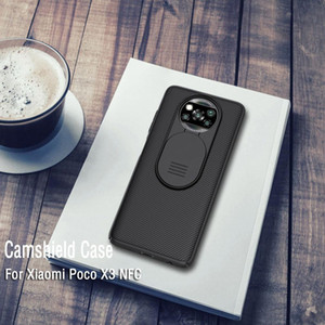Para Xiaomi Poco X3 NFC Nillkin Camshield Camera Proteção Phone Case Lens Case de proteção para Xiaomi Poco X3 NFC