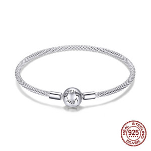 womak Eternal love fashion bangle fit original brand bracelet charm pendant 925 sterling silver beads bracelet jewelry making LJ200918