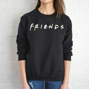 Friends2020 European and American fashion printed round neck loose sweater women hot sale women's pullover top