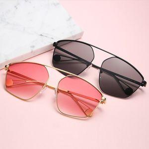 2020 Oversized Sunglasses For Square Brand Female Women Sun Designer Frame UV400 Gradient Men Sunglasses Irregular Glasses Lutdi