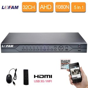 LOFAM Hybrid CCTV Security 32CH 1080N AHD DVR Digital Video Recorder HDMI 1080P NVR HVR 5 In 1 Network DVR Recorder P2P CMS View