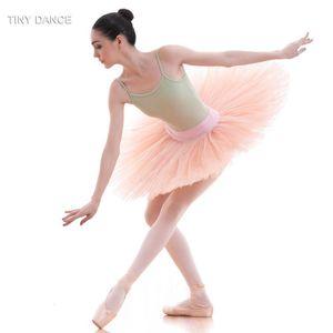 Pre-Professional Ballet Dance Tutu Practice Rehearsal Platter Tutu Skirt for Girls and Women Half BLL001-1