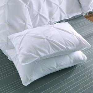 20 1 / Branco fronha pitada Casos Pleat almofada poliéster 50x70cm travesseiro cobre cor sólida Hotel Fronhas YpfX #