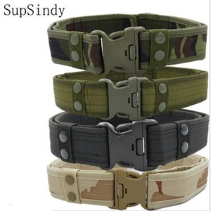 2020 New Army Style Combat Belts Quick Release Tactical Belt Fashion Men Canvas Waistband Outdoor Hunting 5Colors 125cm
