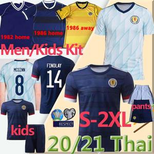 Eruo 2020 2021 ROBERTSON FRASER hommes de football Ecosse enfants kits Retro 1982 1986 chemise de football de coupe du monde FORREST McGinn Uniformes pantalons