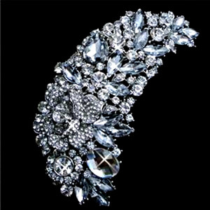 4.8 Inch Huge Crystal Brooch Rhinestone Diamante Marquise Crystal Extra Large Bridal Brooch Jewelry