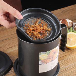 1.3L Герметичные Can Grease Контейнер Кухня инструмент Чайник Приготовление Сепаратор Многофункциональный жарке горшок с сетчатым фильтром хранения нефти
